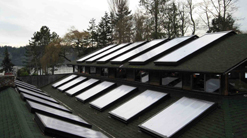 Image of SolaQuad Unit Skylights installed on the roof of a building