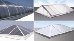 Image showing different models of Direct2FAB Quadwall Skylights